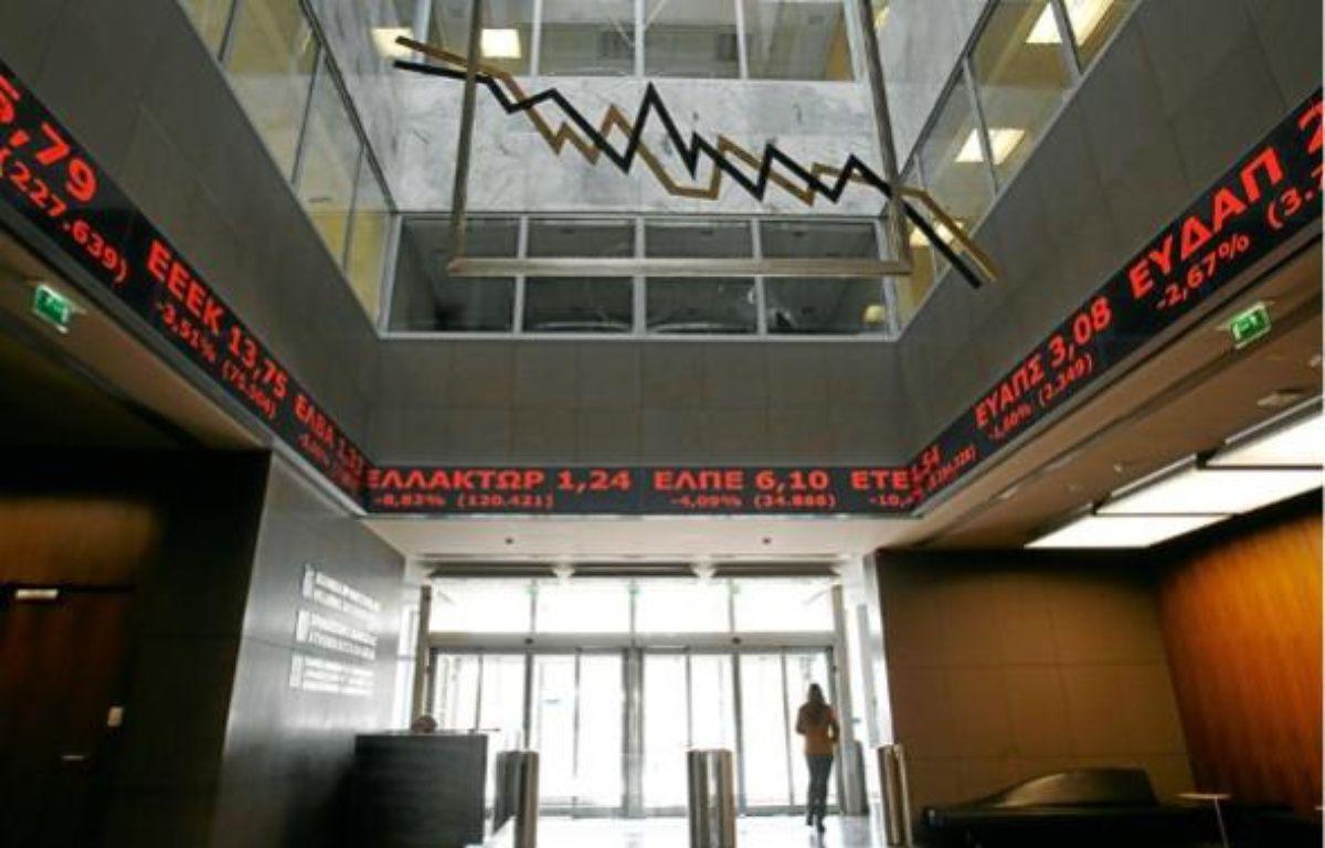 Les marchés s'inquiètent à nouveau d'une contagion de la dette à toute la zone euro. –  Y. KARAHALIS / REUTERS