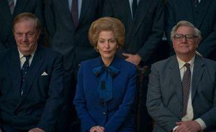 L'actrice Gillian Anderson en Margaret Thatcher dans la série «The Crown»
