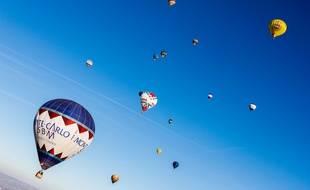 Illustration de montgolfières.