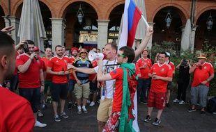 Lors de la rencontre entre la Russie et le Pays de Galles, lors de l'Euro 2016, le 17 juin 2016 à Toulouse.