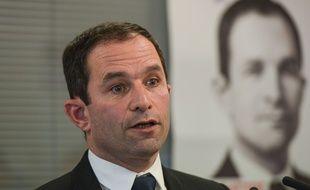 Benoît Hamon lors d'une conférence de presse, le 6 janvier 2016. ISA HARSIN