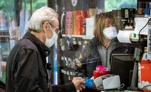 Un supermarché de Montpellier à l'heure du coronavirus en avril 2020 (photo d'illustration)