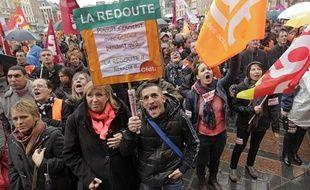 Environ 1.200 salariés de La Redoute manifestent à Lille