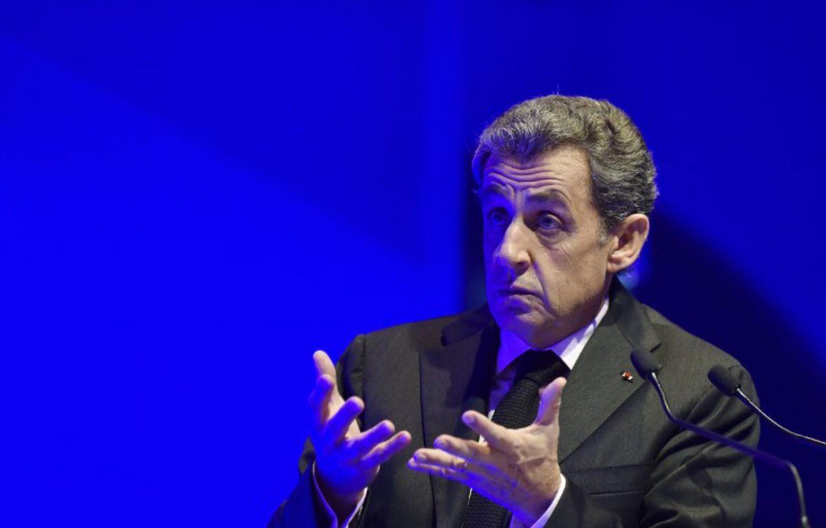 Le candidat à la primaire de la droite et du centre Nicolas Sarkozy – ALAIN JOCARD / AFP