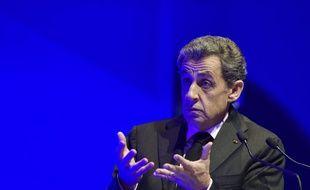 Le candidat à la primaire de la droite et du centre Nicolas Sarkozy