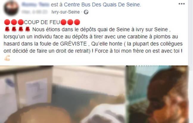 Le post Facebook viral sur l'agent RATP blessé par un tir de carabine.