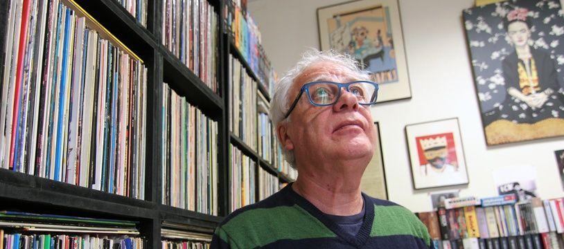 Le fondateur du festival des Trans Musicales de Rennes Jean-Louis Brossard. Ici le 4 décembre 2018 dans son bureau.