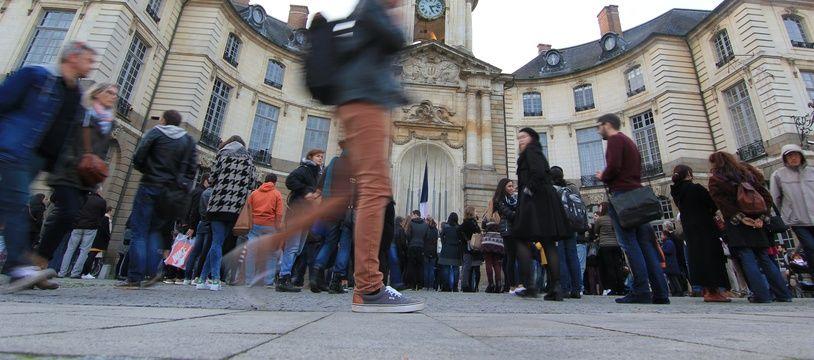 Illustration de la mairie de Rennes.