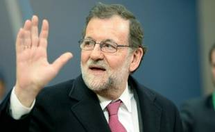 Le Premier ministre espagnol, Mariano Rajoy, le 18 février 2016 à Bruxelles