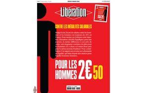 La Une de «Libération» du 8 mars 2018, journée internationale des droits de la femme