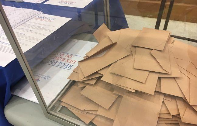 Illustration d'un bureau de vote.