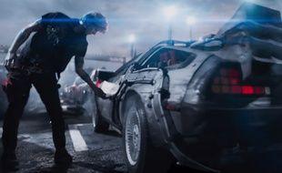 «La Delorean de «Retour vers le futur», l'un des nombreux «easter eggs» du film «Ready Player One»
