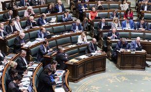 Les membres du Parlement fédéral belge. Image d'illustration.