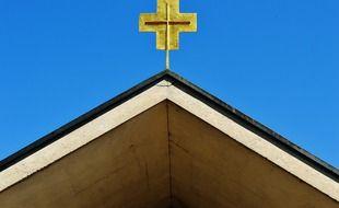 Une église (illustration).