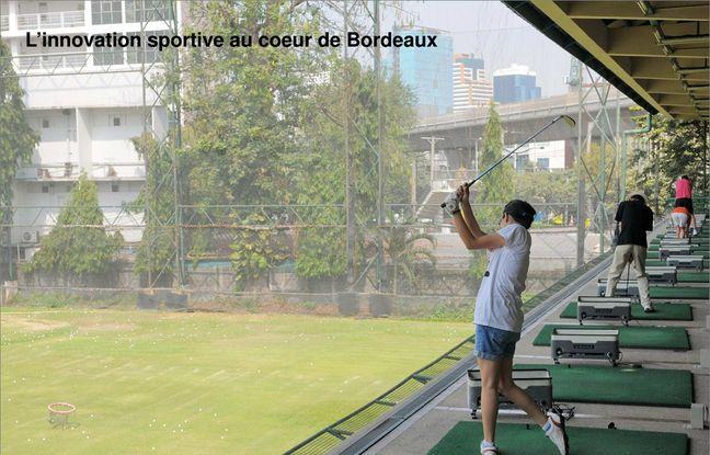 Un parcours de golf sera installé sur le toit du bâtiment dédié aux sports.