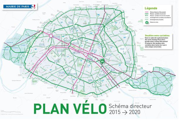 Le plan vélo de la ville de Paris