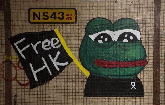 Crise à Hong Kong: Quand des manifestants offrent une nouvelle vie à «Pepe la grenouille», symbole de l'ultradroite sur le Web