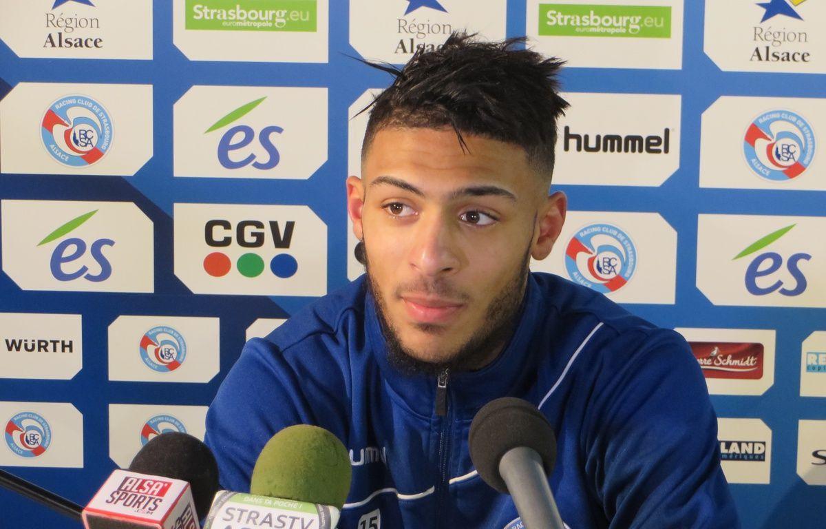 Strasbourg, le 8 janvier 2015. - Le milieu offensif Denis Bouanga a marqué pour son premier match de National vec le Racing face à Belfort (2-0). – F. Hernandez / 20 Minutes