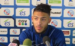 Strasbourg, le 8 janvier 2015. - Le milieu offensif Denis Bouanga a marqué pour son premier match de National vec le Racing face à Belfort (2-0).