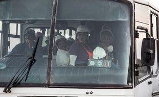 Tous les mineurs de la mine de Beatrix, en Afrique du Sud, ont pu être secourus, le 2 février 2018.