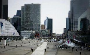 L'esplanade du quartier d'affaires de La Défense, près de Paris, le 15 mars 2013