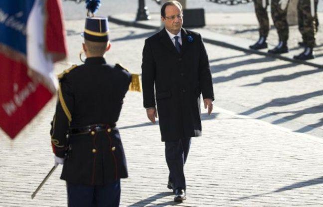 François Hollande lors des cérémonies du 11 novembre à Paris.