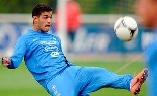 Hatem ben Arfa s'entraine le 22 mai 2012 à Clairefontaine.