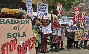 Une manifestation pour protester contres viols de commis en Inde. (Illustration)