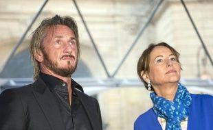 Sean Penn et Ségolène Royal le 1er novembre 2015 à Paris