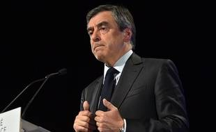 François Fillon lors de son meeting à Toulouse, le 13 avril 2017.