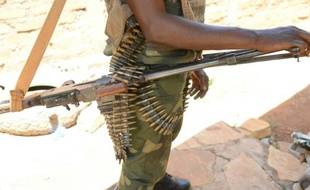 Un membre des ex-rebelles Séléka en armes près de Bambari en Centrafrique, le 15 mai 2015