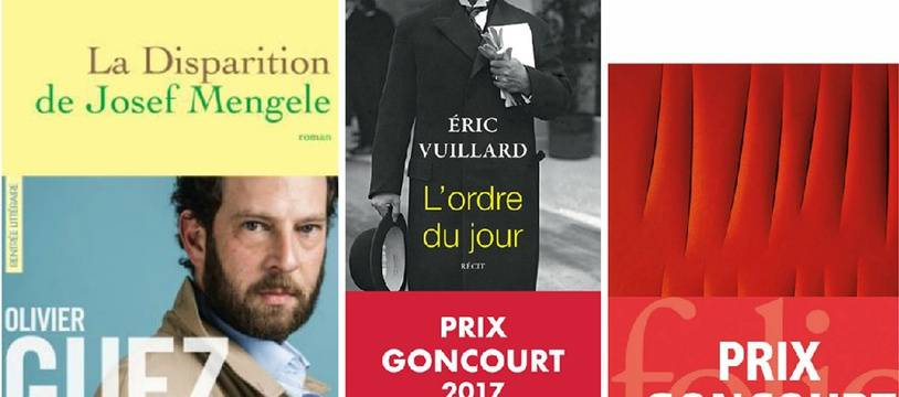«La Disparition de Josef Mengele»d'Olivier Guez, prix Renaudot 2017 (Grasset) «L'Ordre du jour» d'Eric Vuillard, prix Goncourt 2017 (Actes Sud) et «Les Bienveillantes» de Jonathan Little (Gallimard), prix Goncourt 2006.