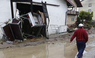 Les intempéries ont également touché le nord de l'Autriche et l'Allemagne, le 2 juin 2016