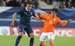 Corentin Tolisso, ici face aux Pays-Bas en mars, a inscrit samedi son troisième but avec l'équipe de France espoirs en dix sélections.