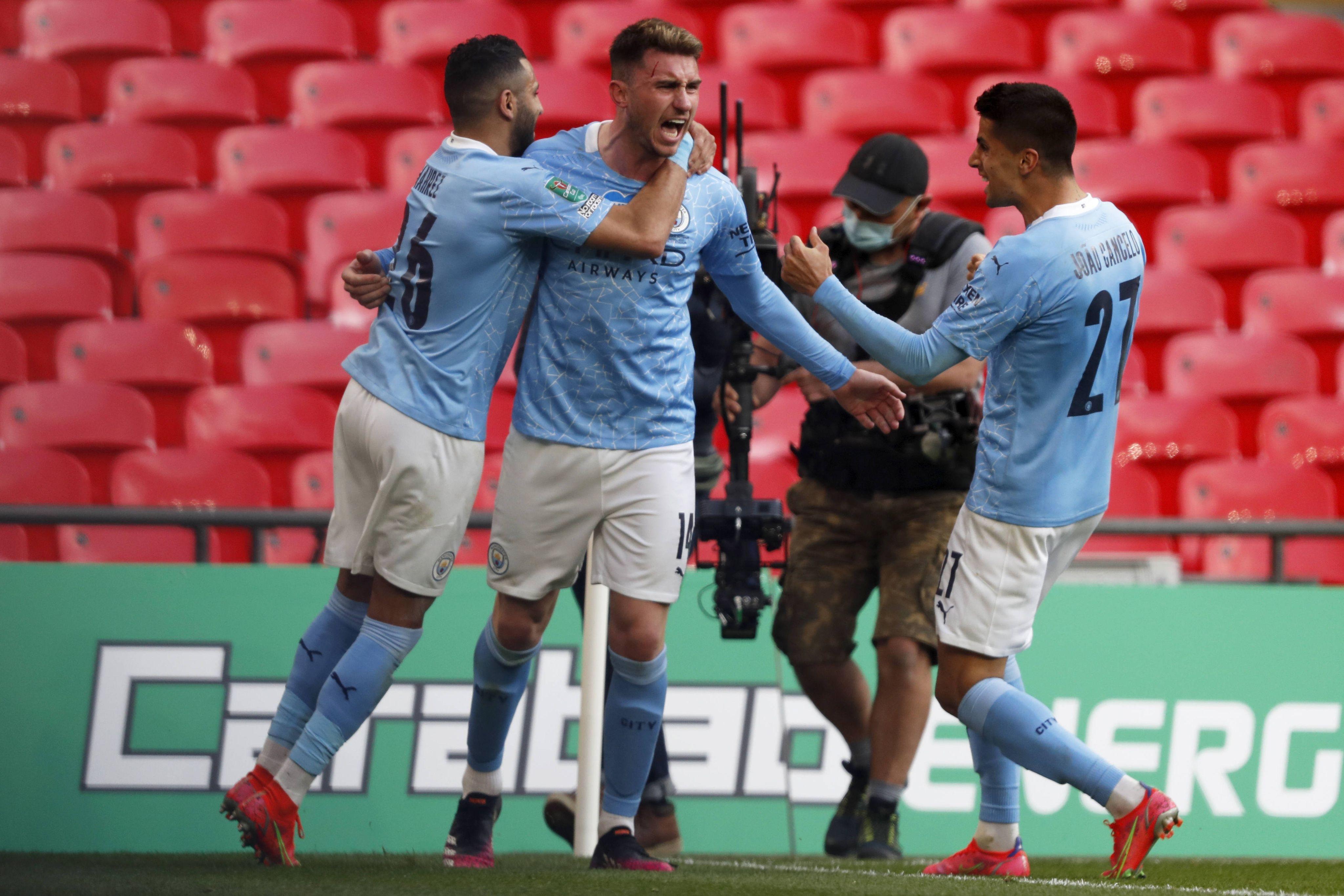 Le défenseur français de Manchester City Aymeric Laporte a marqué le seul but de la finale de la Coupe de la Ligue.
