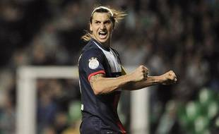 L'attaquant du PSGZlatan Ibrahimovic le 27 octobre 2013 àSaint-Etienne.