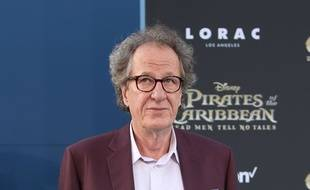 L'acteur Geoffrey Rush à Hollywood