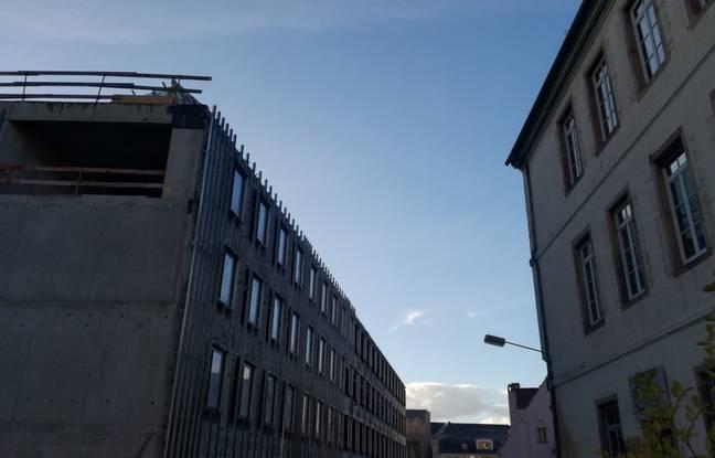 L'arrière du Paps-pcpi, le bâtiment qui sera notamment occupé par Sciences Po sur le site de l'hôpital civil à Strasbourg.