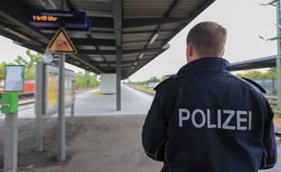 Illustration police allemande. Strasbourg le 16 septembre 2015 à la frontière franco-allemande à Kehl.