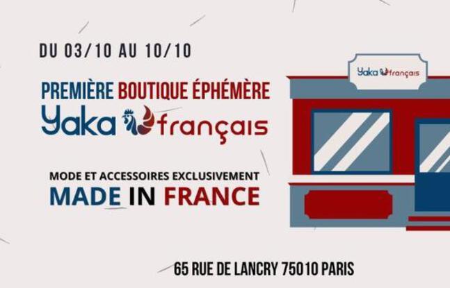 Visuel officiel de la boutique éphémère Yaka Français dans le 10e arrondissement de Paris