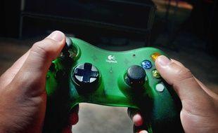 Une manette de jeux vidéo (illustration).