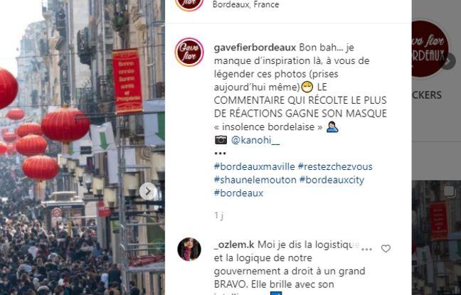 L'image de la rue Sainte-Catherine noire de monde suscite énormément de commentaires, notamment sur le compte gavefierbordeaux
