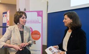 Agnès Buzyn (à droite) et Marisol Touraine, ex-ministre de la Santé.