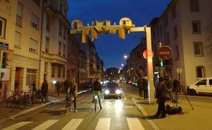 La rue du Lazaret, en plein quartier du Neudorf à Strasbourg, où avait été abattu Cherif Checkatt le 13 décembre 2018.