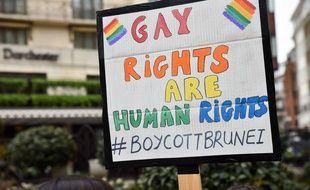 Une manifestation à l'encontre du sultan de Brunei a déjà eu lieu à Londres le 6 avril dernier.