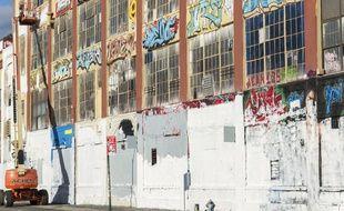 Le site 5Pointz, repaire de street-artistes dans le Queens, à New York, jusqu'à la destruction du bâtiment en 2014.