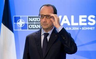 François Hollande lors du sommet de l'Otan de Newport, en Grande-Bretagne, le 4 septembre 2014.