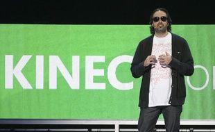 Kudo Tsunoda de Microsoft annonces les nouveautés de Kinect lors de la conférence Microsoft au salon E3 du jeu vidéo à Los Angeles, le 6 juin 2011.