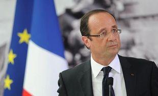 François Hollande au Mémorial de Caen le 6 juin 2012, pour les commémorations du débarquement.