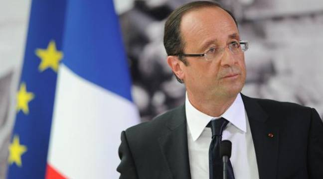 François Hollande au Mémorial de Caen le 6 juin 2012, pour les commémorations du débarquement. – CHAMUSSY/SIPA